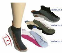 Sneaker mit schützende und Stoß abfedernder Fersenpolsterung Socken Sport 2 Paar