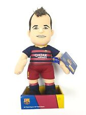 NEW FC BARCELONA ANDRES INIESTA OFFICIAL BLEACHER PLUSH TOY COLLECTIBLE FIGURE