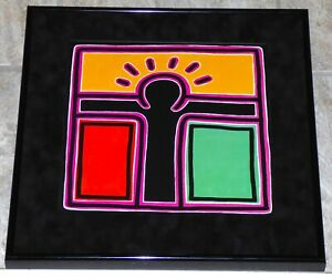 KEITH HARING UNTITLED 1988 FRAMED POSTER PRINT