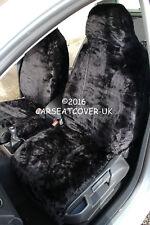 Smart Fortwo (2012 -) Panther Negro Imitación Piel cubiertas de asiento de coche - 2 X frentes