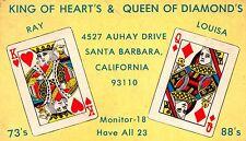 King of Heart's Queen of Diamond's Playing Cards Santa Barbara California~113351