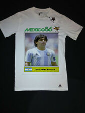 Diego MARADONA ARGENTINA calcio vintage t shirt di grandi dimensioni