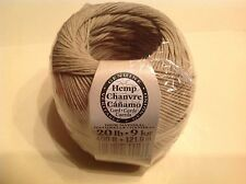 One Package of 400 ft 100% Natural Hemp Cord roll #20 lb  Darice Jewelry Making
