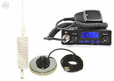 CB STARTER KIT CB RADIO + CB ANTENNA MINI SPRINGER WHITE + MAGNETIC BASE