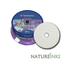 25 Verbatim Printable Dual Layer DVD+R 8x DL Double blank Discs 8.5GB 43667