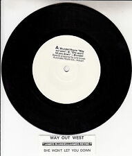 JAMES BLUNDELL & JAMES REYNE Way Out West 45 record + juke box title strip RARE!