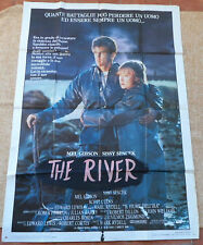 The River Italian MoviePoster, Folded, Original, Mel Gibson, Sissy Spacek, 1984