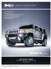 2008 Hummer H3 - smaller in size -  Vintage Advertisement Ad A34-B