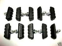 10 PCS BICYCLE BIKE BOLT ON 10 SPEED BRAKE BLACK RUBBER PADS SHOES BMX MTB NEW