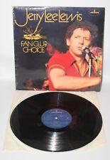 Jerry Lee Lewis - Fan Club Choice  - 1975 Vinyl LP - Mercury 6338 49