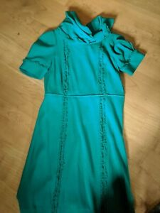 VTG Wool Marc Jacobs Short Sleeve Jade Dress US 6 / UK 10