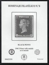 Timbres noirs avec 1 timbre