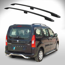 PEUGEOT PARTNER TEPEE Aluminium Roof Bars - Roof Rails Set BLACK 2008- Onwards