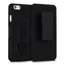 kwmobile Schutz Hülle Gürtelclip für Apple Iphone 6 6S Schwarz Case Handy Cover