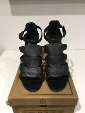 Ash Black Leather Sandals Size 40