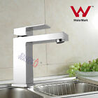 Square bathroom cabinet sink Flick mixer hot cold tap brass Faucet chrome WELS