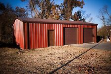 24'x24'x10' Steel Garage/Workshop Building Kit Excel Metal Building Systems Inc