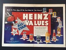 1952 Heinz All Star Values Ad Watch For These Stars Of The Food World