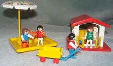 VINTAGE PLAYMOBIL CHILDRENS PLAYGROUND 3497 PLAYHOUSE, SANDPIT + ACCESSORIES VGC