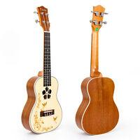 Kmise Concert Ukulele Ukelele Uke Solid Spruce 23 inch Mahogany Hawaii Guitar
