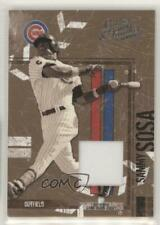 2004 Donruss Leather & Lumber Materials Black White Jersey /250 Sammy Sosa #34