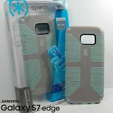 SPECK CandyShell GRIP Case Cover for SAMSUNG Galaxy S7 EDGE - Grey Aloe Green