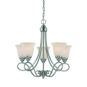 Craftmade Cordova 5 Light Chandelier in Satin Nickel 25025-SN
