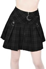 Killstar Kristen Pleated Skirt Tartan Rok Gothic Punk Rock NEW