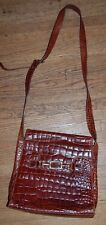 Fun! VTG TALBOTS alligator CROCODILE LEATHER PURSE HANDBAG shoulder stap