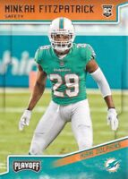 2018 Playoff Football #243 Minkah Fitzpatrick RC Miami Dolphins