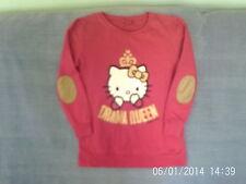 Girls 12-13 Years - Fuschia Pink Long Sleeve Top - Hello Kitty Motif