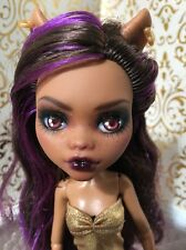 Clawdeen Wolf Gold Leopard Print Skirt Repaint OOAK Monster High Doll