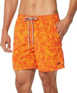 Speedo Men's Sun Ray Volley Board Shorts, Bright Marigold