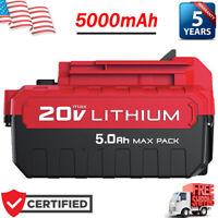 20V 5.0AH For PORTER CABLE PCC685L PCC680L 20Volt Max Lithium-Ion Battery PCC682