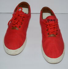 RALPH LAUREN VAUGHN CHAMBRAY RED CANVAS SNEAKERS SHOES BOYS/MEN SZ 6.5  *GUC*