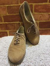 NEW SAS Women's Shoes Size  7.5 Tan Suede Oxford Lace Tripad Comfort USA 932