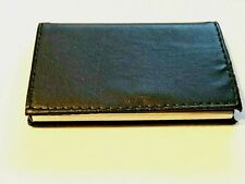 Business Card Holder Case Black Leather Metal With Magnetic Closure Nice