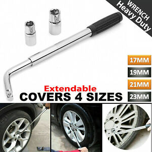 Extendable Car Tyre Wheel Wrench Brace Telescopic 17mm 19mm 21mm 23mm Nut Socket