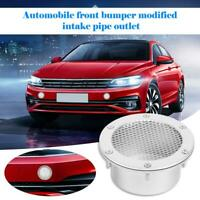 Universal Car Air Duct Grille Bumper Vent Inlet Cold Air Intake Induct Silver