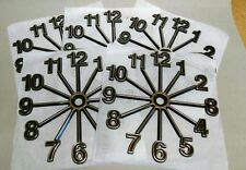 "(5) Full Starburst Clock numbers, 6 3/4"" Clock parts: self stick, 5 dials, Usa"