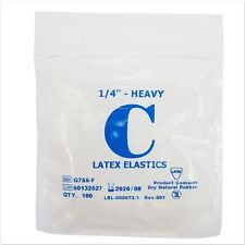 Orthodontic Elastic Bands ~ Latex 1/4 4.5oz Heavy Elastics Between Teeth Braces