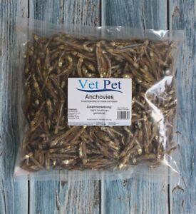 Trockenfisch für Hunde Anchovies / Sprotten 1kg getrockneter Fisch wie Omena