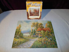 Complete Perfect Picture 400 Piece Puzzle Rustic Home & Garden Farm Lake Vintage