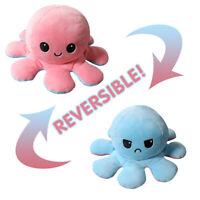 Cute Soft Reversible Flip Octopu Doll Kids Plush Toy Chirdren Baby Birthday Gift
