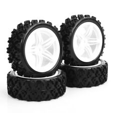 1:10 RC Rally Racing Rubber Tire Rims 4Pcs For HSP HPI Off Road Car 12FNW+PP0487