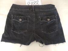 Womens Levis 526 Corduroy Cut Off Shorts Size 30x2.5 Black