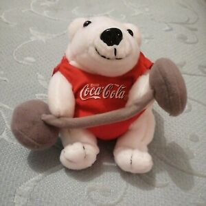 Cocacola Weightlifting White Polar Bear