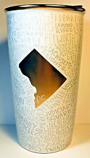 Starbucks Washington DC Ceramic Double Wall Traveler Tumbler 12 Ozs Cup New LE
