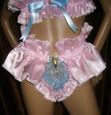 Prissy Sissy Maid Adult Baby CD/TV Lockable Slave Lace Pouch Thong & Padlock