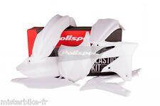 Kit plastiques Coque Polisport  Kawasaki KX250F  2013-2016  Couleur:  Blanc